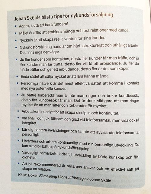 Säljtips från Johan Sköld