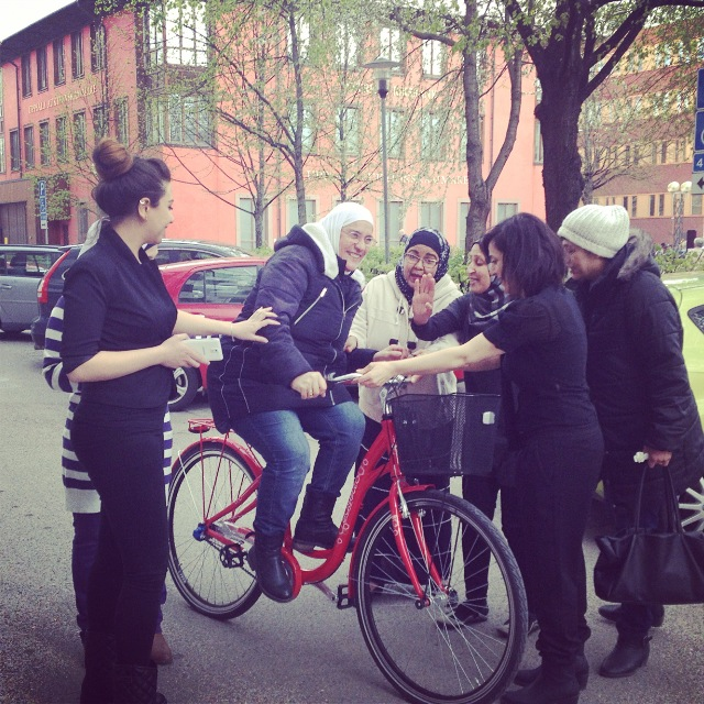 Cykel skäntes till Stadsmissionen